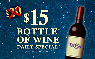 $15 Wine Wednesdays