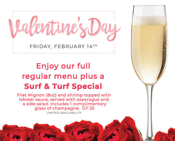 Valentine's Day surf & turf special