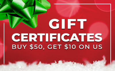Holiday Gift Certificate Savings!