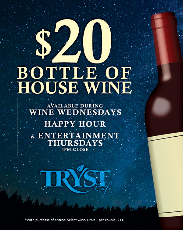 Tryst Cafe wine